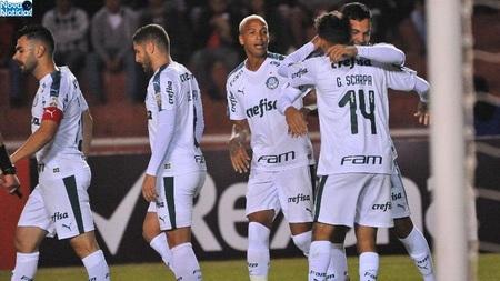 Left or right jogadores do palmeiras comemoram gol de gustavo gomez em partida contra o melgar pela copa libertadores 1556246540625 v2 900x506