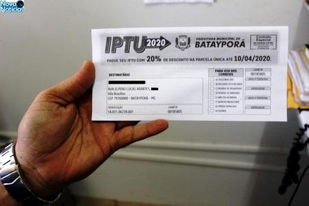 Left or right carn s do iptu 2020 ser o entregues a partir da segunda quinzena de fevereiro em bataypora