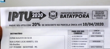 Left or right prazo para pagamento da parcela nica do iptu 2020 prorrogado 3