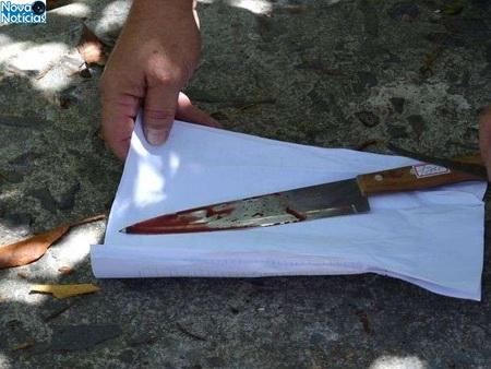 Left or right faca usada no crime