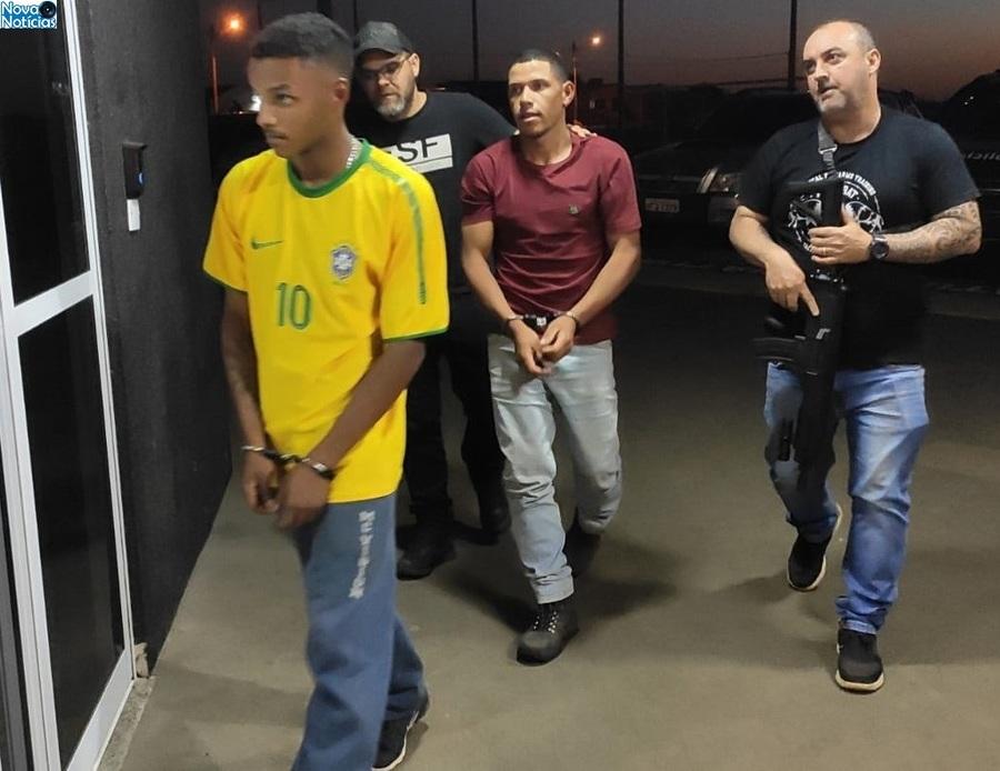 Center acusados momento da chegada na delpol de bataguassu